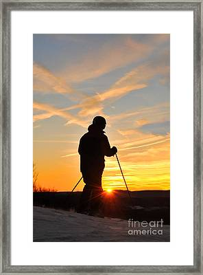 Last Run At End Of Day Framed Print by Dan Friend