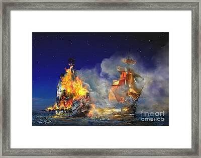 Last Salvo  Framed Print by Tom Straub