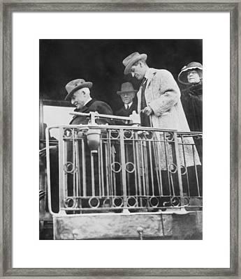 Last Shot Of President Harding Framed Print by Underwood Archives