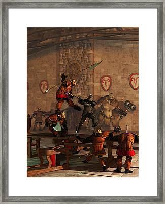 Last Stand At Sarpay Framed Print by Daniel Eskridge