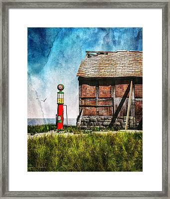 Last Stop Texaco Framed Print by Bob Orsillo