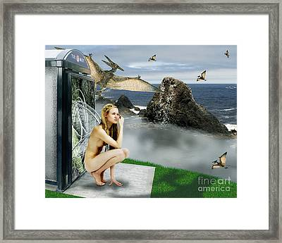Last Stop To A Reality Shift Framed Print by Keith Dillon