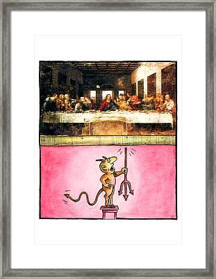 Last Supper Framed Print by Victor Eugen MIHAI - VEM