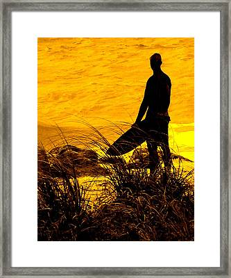 Last Surfer Standing Framed Print by Ian  MacDonald