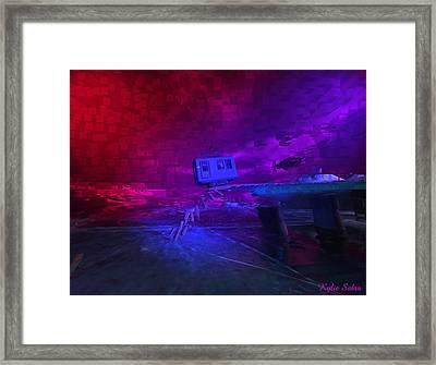 Last Train To . . . Framed Print by Kylie Sabra
