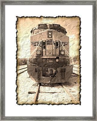 Last Train Framed Print by Wendy J St Christopher
