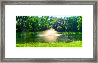 Last View To The Left Framed Print by Tina M Wenger