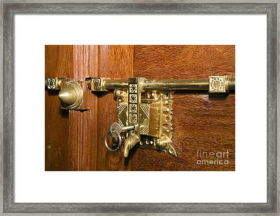 Latch And Lock H Framed Print by Ladi  Kirn