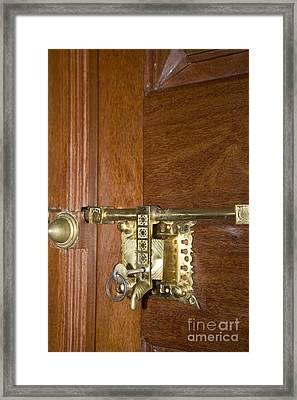 Latch And Lock V Framed Print by Ladi  Kirn