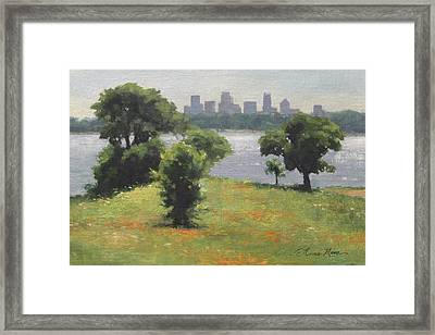 Late Afternoon At Winfrey Point Framed Print by Anna Rose Bain