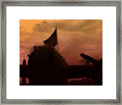 Late Afternoon B17 Flying Fortess  Framed Print by M K  Miller