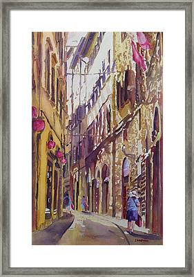 Late Afternoon In Florence Framed Print by Jenny Armitage