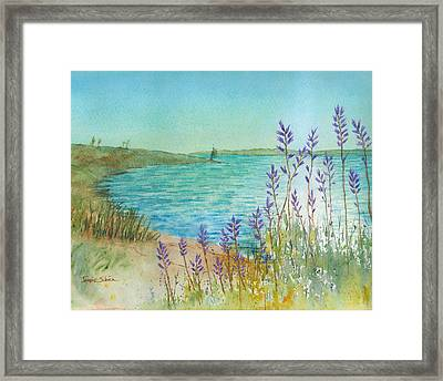Late Afternoon Morro Bay Framed Print by Janice Sobien