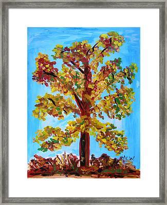 Late Autumn Survivor Framed Print by Mary Carol Williams