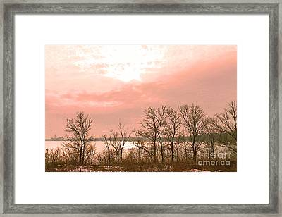 Late Day Sun On Lake Ontario Framed Print by Nina Silver