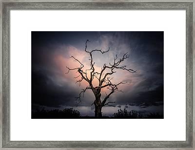 Late Evening Cloud Display Framed Print by Chris Fletcher