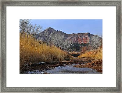 Late Fall In Palo Duro Canyon Framed Print by Karen Slagle