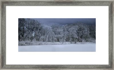 Late Snow At The Rio Grande Framed Print by Ellen Heaverlo