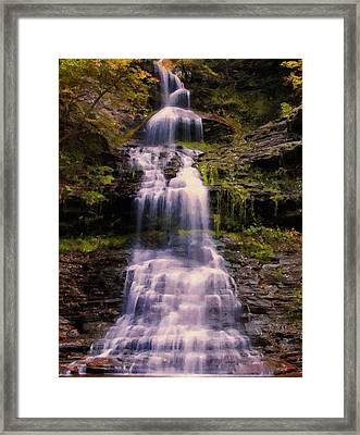 late summer Cathedral falls 2 Framed Print by Chris Flees