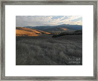 Late Summer Evening In The Santa Teresa Hills Framed Print by Stu Shepherd