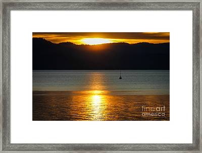 Late Summer Sunset Framed Print by Mitch Shindelbower