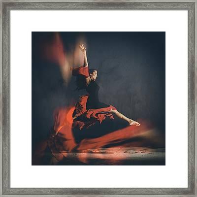 Latin Dancer Framed Print by Stelios Kleanthous