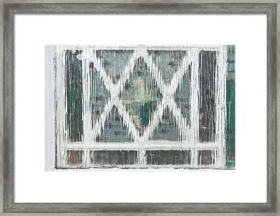 Lattice Pattern Framed Print by Tom Gowanlock