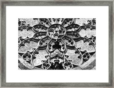 Lattice Stonework In Baltimore Framed Print by James Brunker
