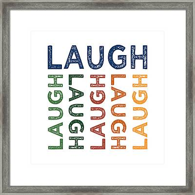Laugh Cute Colorful Framed Print by Flo Karp