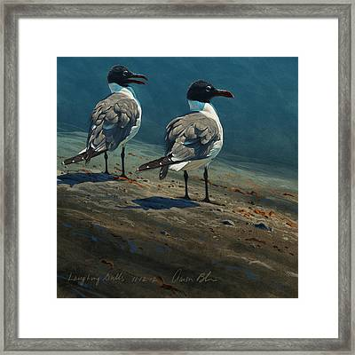 Laughing Gulls Framed Print by Aaron Blaise