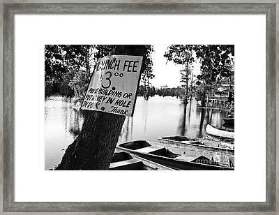Launch Fee Framed Print by Scott Pellegrin
