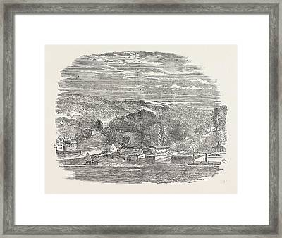 Launch Of The Allen Gardiner Mission Vessel 1854 Framed Print by English School