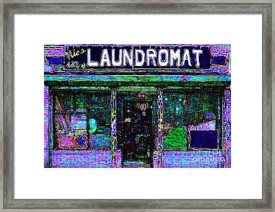Laundromat 20130731m108 Framed Print by Wingsdomain Art and Photography