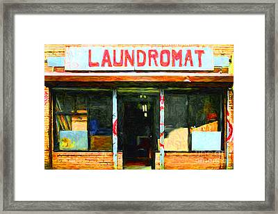 Laundromat 20130731pop Framed Print by Wingsdomain Art and Photography