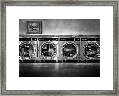 Laundromat Art Framed Print by Bob Orsillo