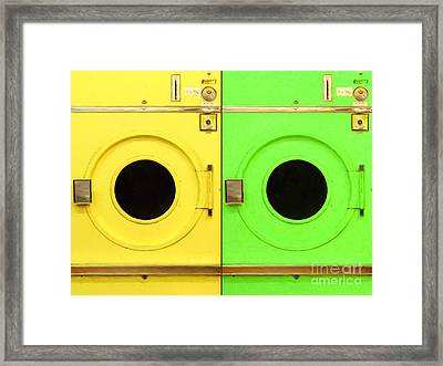 Laundromat Drying Machines Two 20130801a Framed Print by Wingsdomain Art and Photography