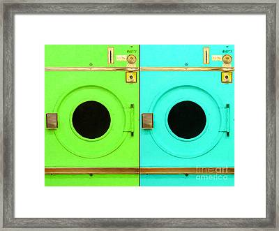 Laundromat Drying Machines Two 20130801b Framed Print by Wingsdomain Art and Photography