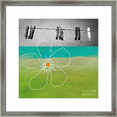 Laundry Day Framed Print by Linda Woods