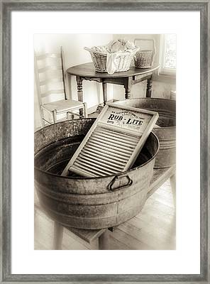 Laundry Day On The Farm Framed Print by Julie Palencia