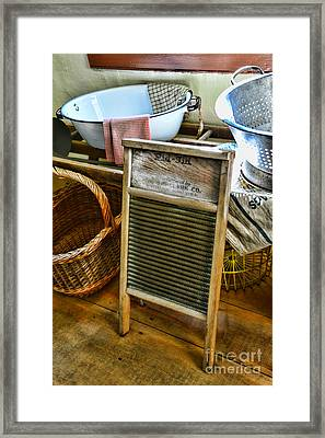 Laundry Day Framed Print by Paul Ward