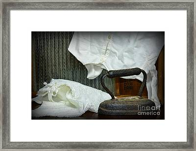 Laundry - Ironing Day Framed Print by Paul Ward
