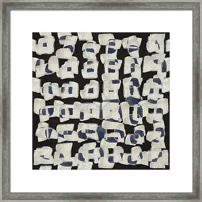 Laura Series Making Marks 545b2 Framed Print by Carol Leigh