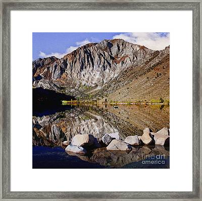 Laural Mountain Convict Lake California Framed Print by Bob and Nadine Johnston