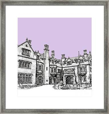 Laurel Hall In Lilac Framed Print by Adendorff Design