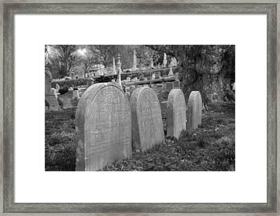 Laurel Hill Headstones Framed Print by Jennifer Ancker