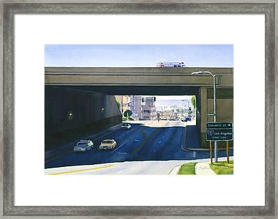 Laurel Street Bridge San Diego Framed Print by Mary Helmreich