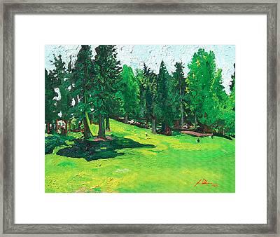 Laurelhurst Park Framed Print by Joseph Demaree