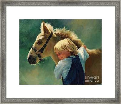 Lauren's Pony Framed Print by Laurie Hein