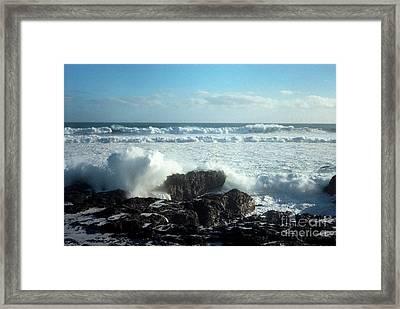 Lava Beach Rocks On 90 Mile Beach Framed Print by Mark Dodd