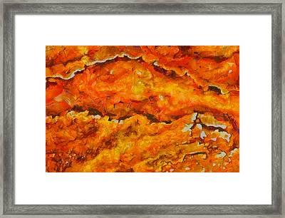 Lava Flow Framed Print by Dan Sproul
